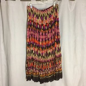 Fashion Bug Multicolor Pleated Skirt Size L